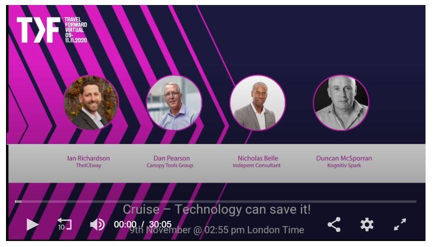 Watch theICEway's Ian Richardson at WTM Travel Forward 2020